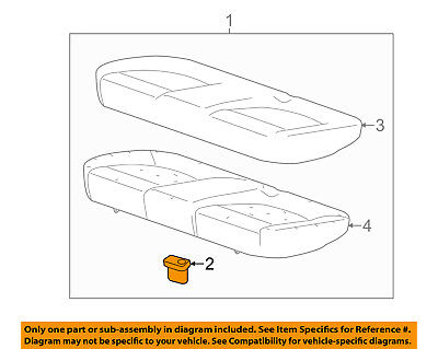 GM OEM Rear Seat-Cushion Assembly Retainer 24437789