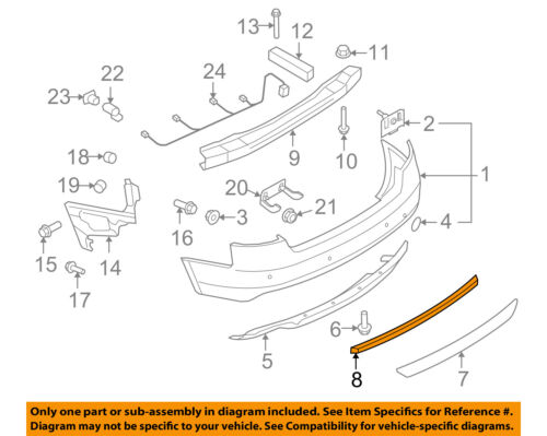AUDI OEM 12-17 S5 Rear Bumper-Cover Molding 8T0807791B2ZZ
