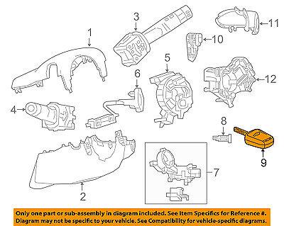 Chevrolet GM OEM 2016 Spark Steering Column-Key 13579235