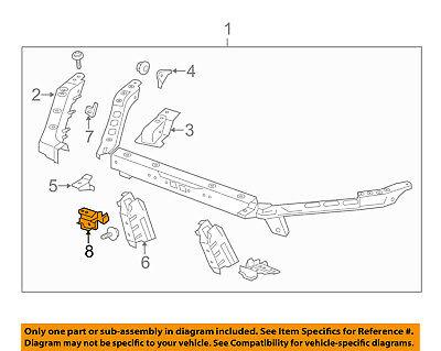 Cadillac GM OEM ATS Radiator Core Support-Fender Mounting Bracket Left 20952867