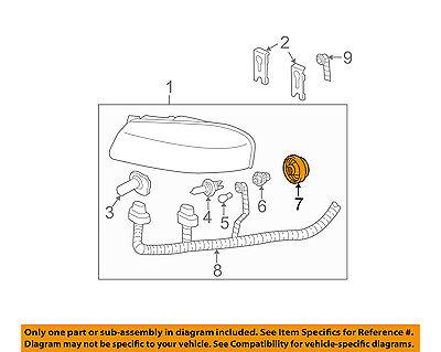 GM OEM Headlight Head Light Lamp-Socket Cover 12458865