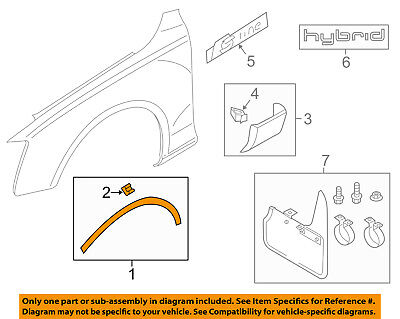 AUDI OEM 09-16 Q5 Front Fender-Wheel Well Flare Arch Molding Right 8R08537184U8