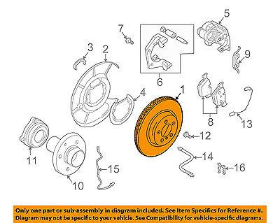 BMW OEM 06-10 550i Rear Brake-Rotor 34216763827
