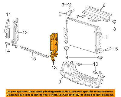Cadillac GM OEM 16-18 CTS 6.2L-V8 Radiator-Side Seal Left 23445354