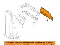 Pontiac GM OEM 05-10 G6 Fender-Air Deflector Right 15242779