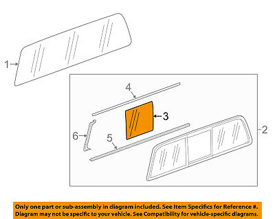 GM OEM Moveable Back Glass 84128342