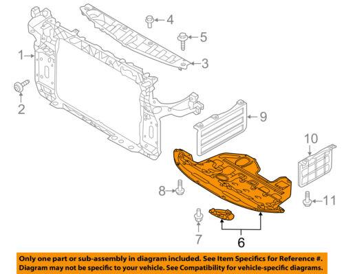 Kia Oem 11 13 Sportage Under Radiator Engine Cover Splash Shield 291103w500 Ebay