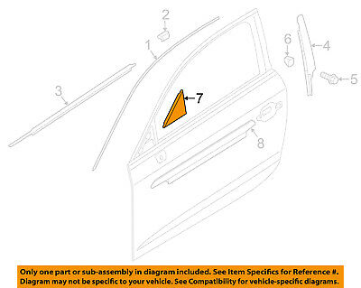 AUDI OEM 15-18 A3 Front Door-Corner Trim Right 8V5837638A5FQ