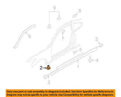 NISSAN OEM Exterior-Rocker Molding Grommet Clip Nut 0128100711