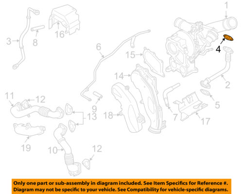 GM OEM Turbocharger-Oil Pipe Gasket 97227012