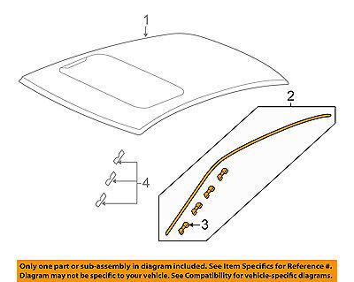 HONDA OEM 13-16 Accord-Roof Molding Trim Left 73163T3LA01