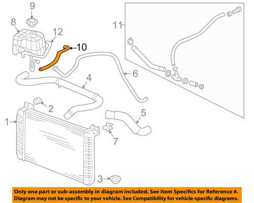 Hummer GM OEM 03-06 H2 Radiator-Upper Hose 10379176