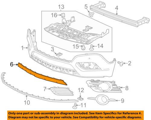 Partslink Number GM1044122 Multiple Manufacturers OE Replacement 2013-2015 Buick Encore/_ Buick Skid Plate