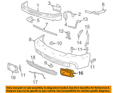 Chevrolet GM OEM Silverado 1500 Classic Front Bumper-Air Duct Right 89025754