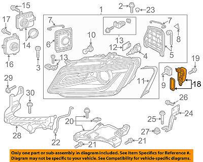 AUDI OEM 14-16 SQ5 Headlight Head light lamp-Control Module 8R0941475B