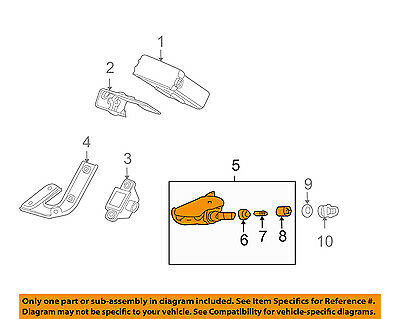 Acura HONDA OEM 09-14 TL-Tire Pressure Sensor 42753TY2A51