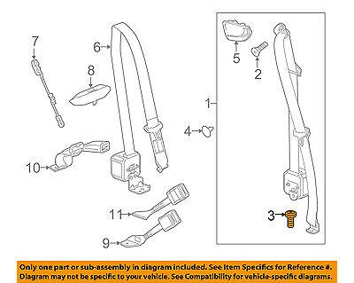 GM OEM Front Seat Belt-Belt & Retractor Lower Bolt 11611776