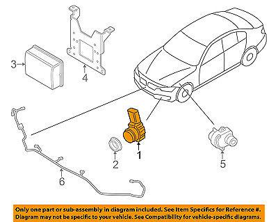 BMW OEM 428i xDrive Gran Coupe Front Bumper Grille Grill-Park Sensor 66209308344