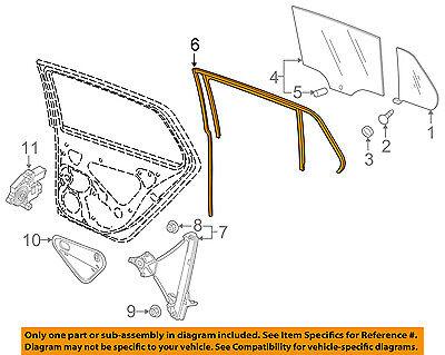 VW VOLKSWAGEN OEM e-Golf Glass-Rear Door-Window Channel Right 5G6839432H5AP