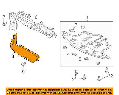 Kia Oem 2016 Sorento Splash Shield Lower Air Guide 29136C6500