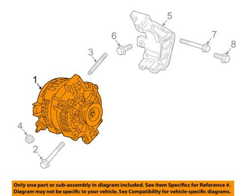 Cadillac GM OEM 2018 CT6 3.0L-V6-Alternator 84195662
