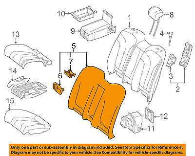 Mercedes MERCEDES-BENZ OEM S63 AMG Rear Seat-Seat Cover-Top Back 21792014028R01