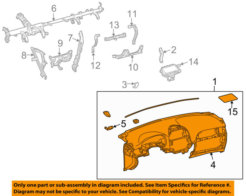 Toyota Oem 04-10 Sienna Instrument Panel-dash 5530108040e0