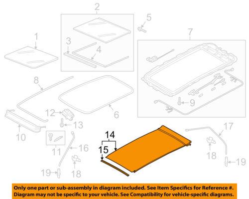 Cadillac GM OEM 10-16 SRX Sunroof Sun Roof-Sunshade Shade Cover 25964409