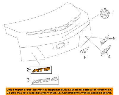 Cadillac GM OEM 13-14 ATS Trunk Lid-Emblem Badge Nameplate 20934963