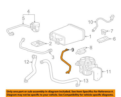 GM OEM Vapor Canister-Purge Valve Pipe Tube 12611130