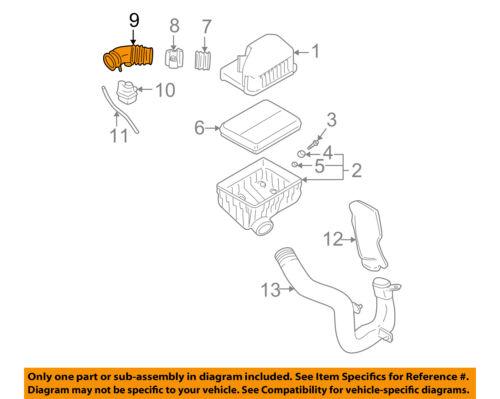 HYUNDAI OEM 01-06 Santa Fe 2.7L-V6 Air Cleaner Intake-Hose Duct Tube  2813937130 | eBayeBay