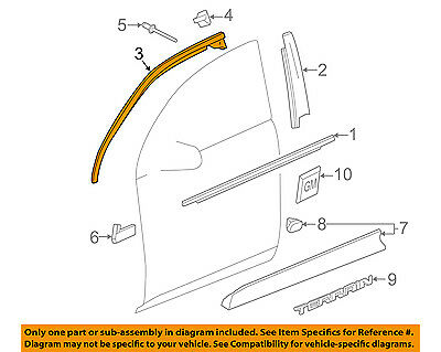 GM OEM Front Door-Reveal Molding Left 23193176