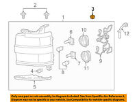 Right Genuine GM 25753158 Headlamp Bracket