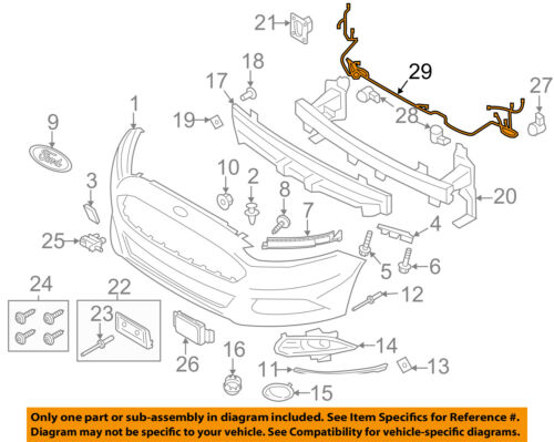 ford fusion seat belt wiring diagram ford oem 13 16 fusion front bumper grille grill wire harness  front bumper grille grill wire harness
