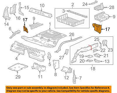 Cadillac GM OEM 13-18 ATS Floor Rails-Rear-Extension Panel Left 23468326