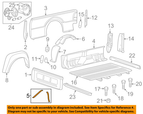 FORD OEM F-350 Super Duty Rear Fender Panel-Bed-Support Brace Right BC3Z9927726A