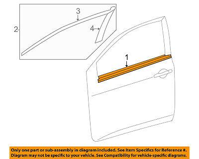 TOYOTA OEM Corolla-Door Window Sweep-Belt Molding Weatherstrip Right 7571002210