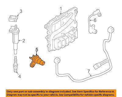 BMW OEM 07-16 X5-Engine Camshaft Cam Position Sensor 13627525014