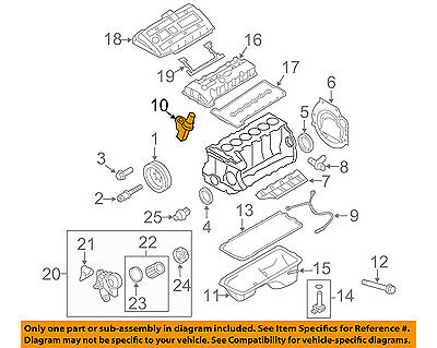 BMW OEM 07-16 X5-Engine Camshaft Cam Position Sensor 13627525014