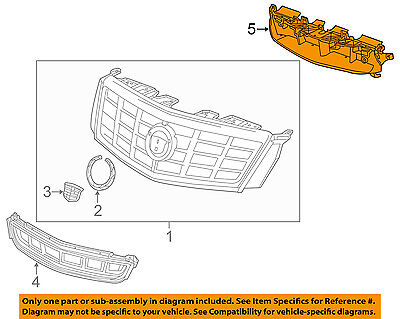 Cadillac GM OEM XTS Front Bumper Grille Grill-Grille Grill Bracket 20929756