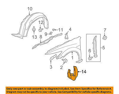Acura HONDA OEM 09-14 TSX-Mud Flap Splash Guard 08P00TL22B0
