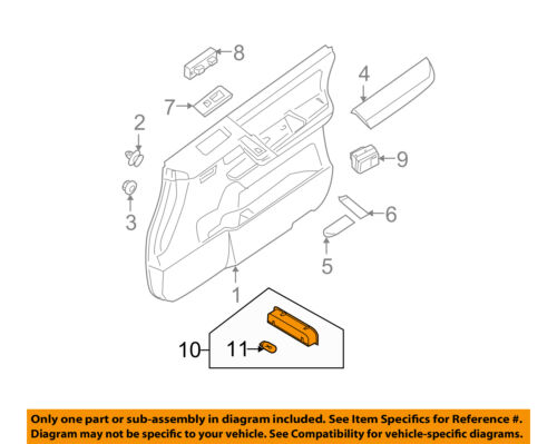 Genuine Nissan 26420-JA10A Door Lamp Assembly