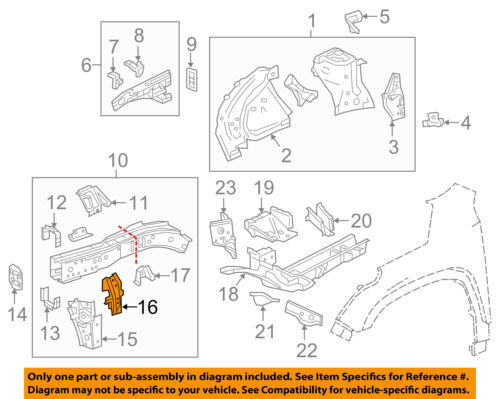 Chevrolet GM OEM 09-16 Traverse Cowl-Side Extension Right 22956656