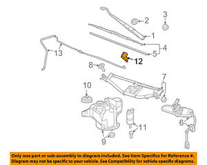 GM OEM Windshield Wiper Washer-Nozzle Spray Jet 20820073
