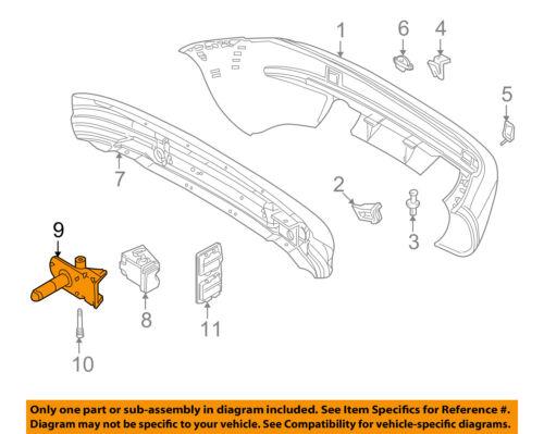 BMW OEM 98-01 Z3 Bumper Face-Foam Impact Absorber Bar Right 5112840024