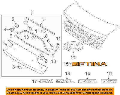 KIA OEM 16-18 Optima Trunk Lid-Emblem Badge Nameplate 86310D4100