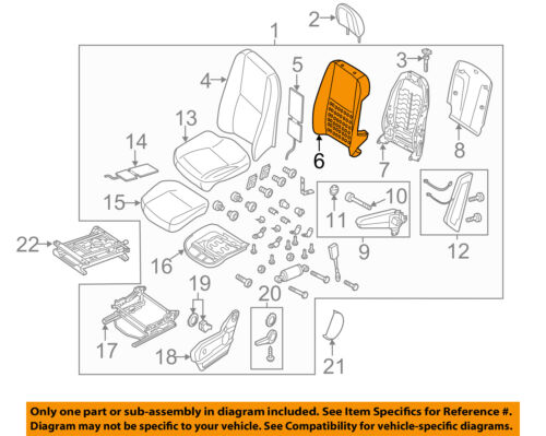 GM OEM Front Seat-Back Cushion Foam Pad 15243902