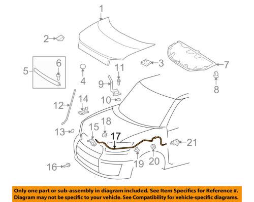 Hood Release Cable Dorman 912-416 fits 08-15 Scion xB