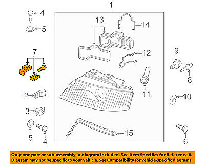 AUDI OEM 00-04 A6 Quattro Headlamp-Front Lamps-Repair Kit Right 4B3998122