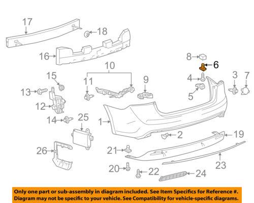 New Bumper Bracket Rear, RH Side for Toyota Sienna TO1167113 2004 to 2010